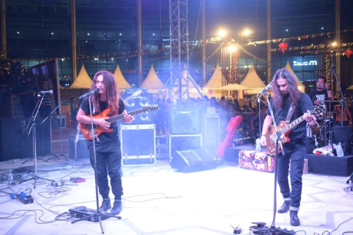 Traffic Jam Band performing at Momos festival