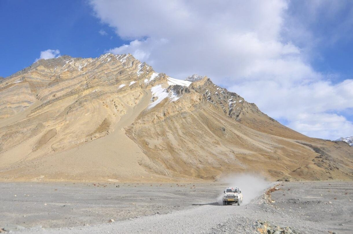 Car driving on himalaya