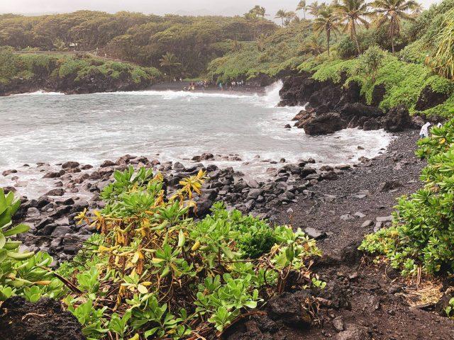 Black SandBeach, Hawaii