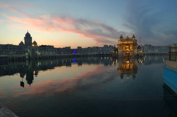 Amritsar Golden Temple Early Sunset