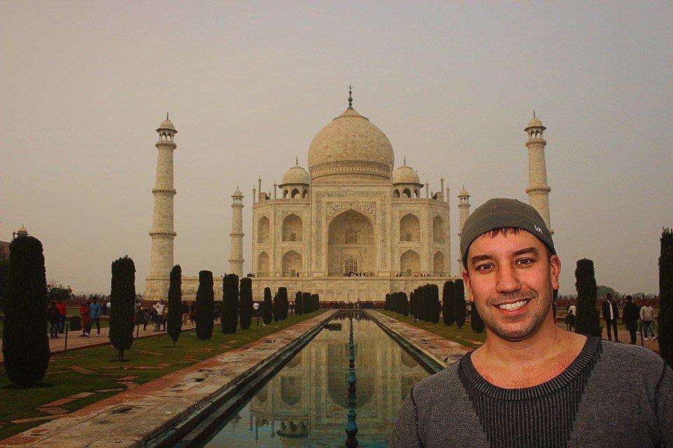 Derek at Taj Mahal