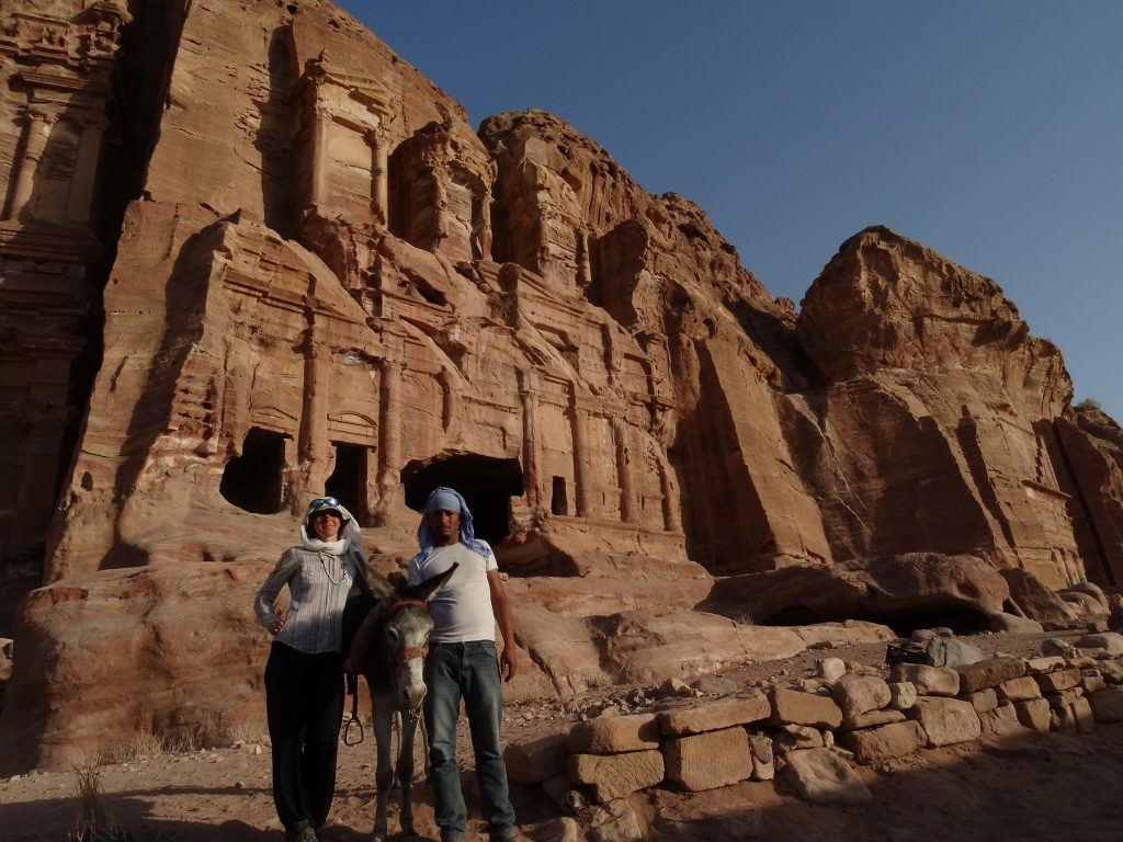 With my Bedouin friend in Petra, Jordan 2017
