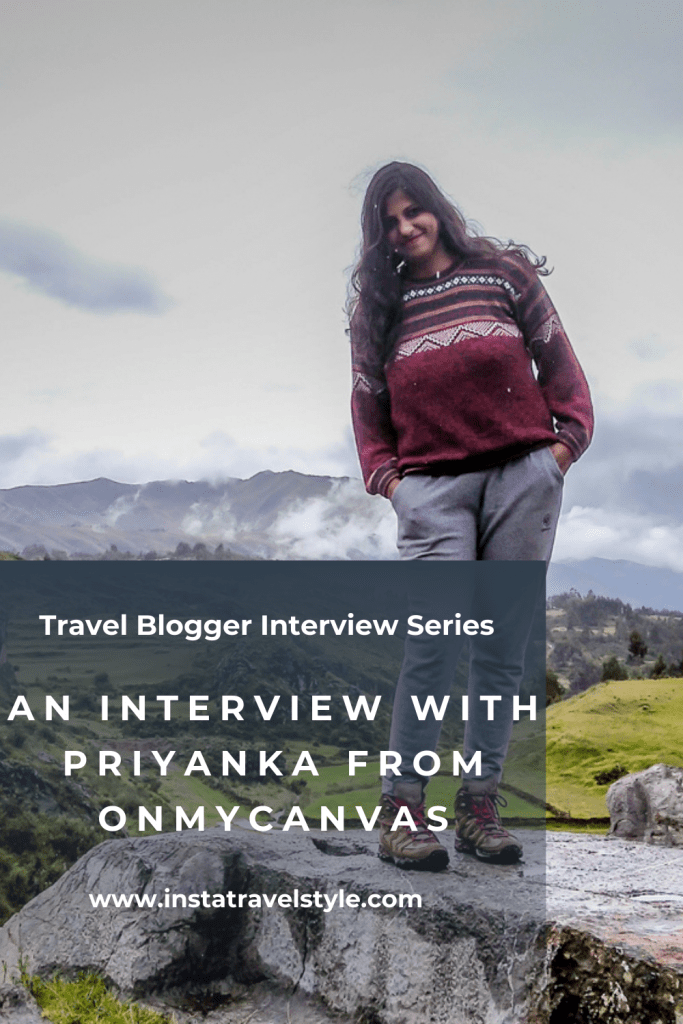 An Interview With Priyanka from OnMyCanvas